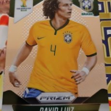 Trading Cards: CARD PANINI PRIZM MUNDIAL FUTBOL 2014 DAVID LUIZ BRASIL. Lote 152487606