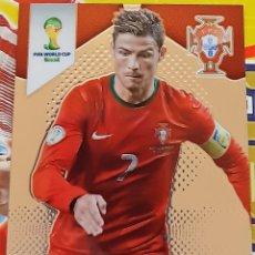 Trading Cards: CARD PANINI PRIZM MUNDIAL FUTBOL 2014 CRISTIANO RONALDO PORTUGAL. Lote 152488130