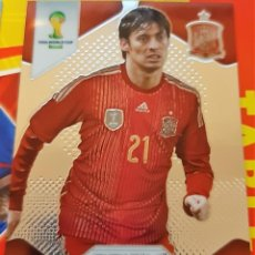 Trading Cards: CARD PANINI PRIZM MUNDIAL FUTBOL 2014 DAVID SILVA ESPAÑA. Lote 152488618