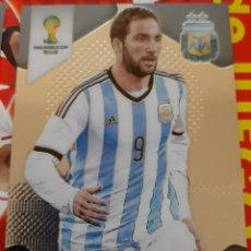 Trading Cards: CARD PANINI PRIZM MUNDIAL FUTBOL 2014 GONZALO HIGUAIN ARGENTINA. Lote 152488858
