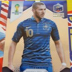 Trading Cards: CARD PANINI PRIZM MUNDIAL FUTBOL 2014 KARIM BENZEMA FRANCIA REAL MADRID. Lote 152488910