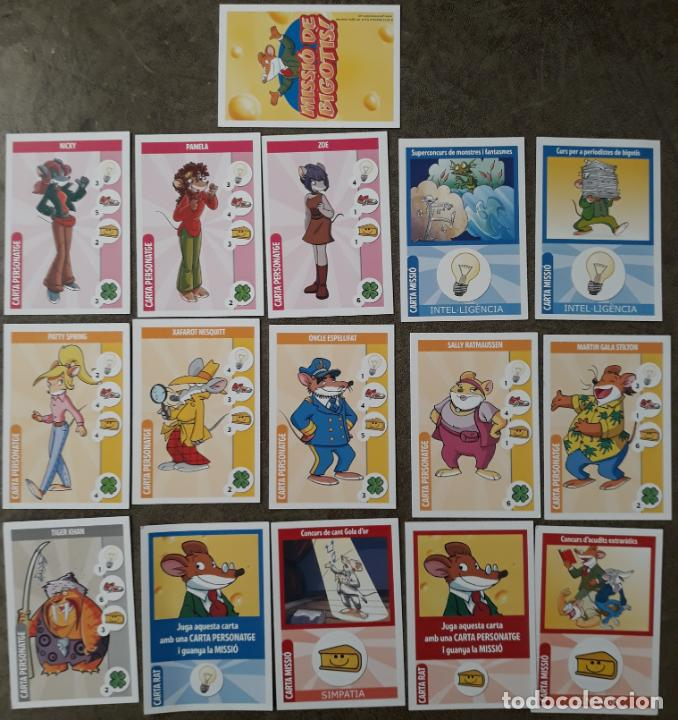 Trading Cards: 16 cartes de GERONIMO STILTON. MISSIÓ IMPOSSIBLE - Foto 1 - 152733802