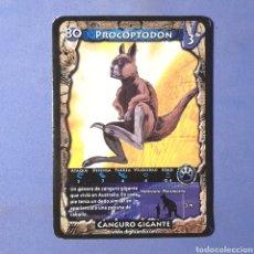 Trading Cards: (C-17) CARTA PREDATORS / EL RETORNO DE LOS DINOSAURIOS - N°80 PROCOPTODON. Lote 179063202