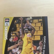 Trading Cards: PANINI LIGA ACB 2008 2009 08 09 TRADING CARDS N°154 SANDERS ,NUEVOS, PIDE TUS FALTAS. Lote 154925504