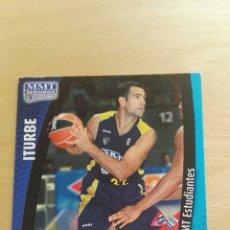 Trading Cards: PANINI LIGA ACB 2008 2009 08 09 TRADING CARDS N°172 ITURBE ,NUEVOS, PIDE TUS FALTAS. Lote 154928094