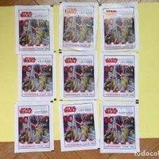 Trading Cards: LOTE 9 SOBRES CON CROMOS (CARTAS) (STAR WARS) (DISNEY, CARREFOUR) NUEVOS ¡ORIGINALES! . Lote 156515534