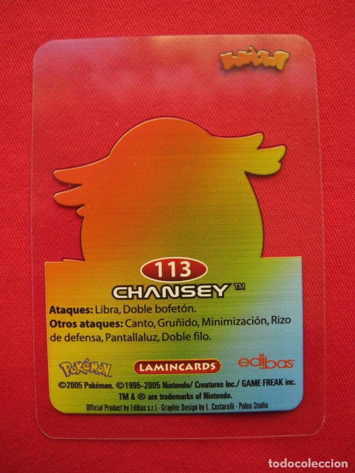 Trading Cards: POKEMON LAMINCARDS - CHANSEY - Nº 113 - EDIBAS 2005. - Foto 3 - 160983878