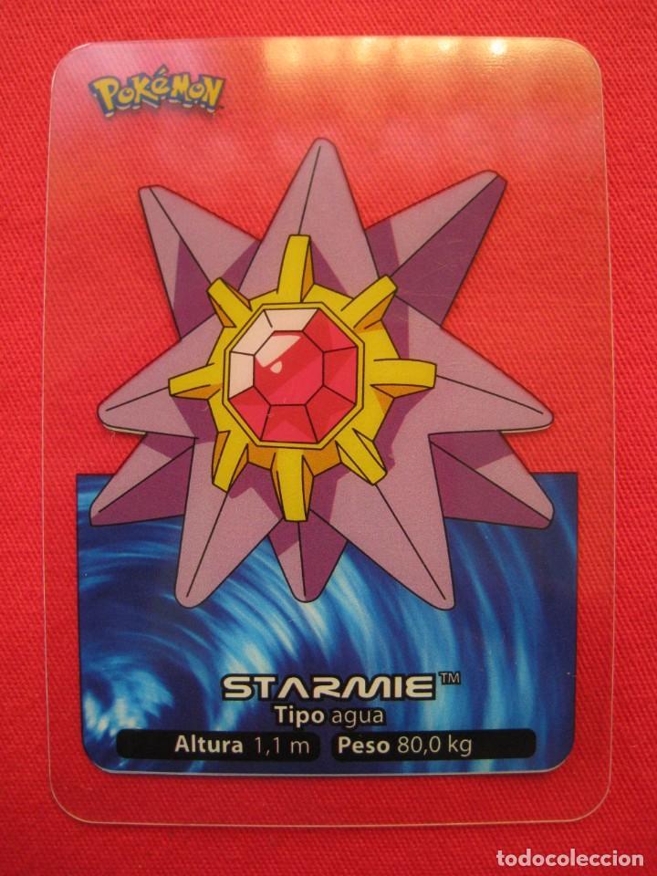 POKEMON LAMINCARDS - STARMIE - Nº 121 - EDIBAS 2005. (Coleccionismo - Cromos y Álbumes - Trading Cards)