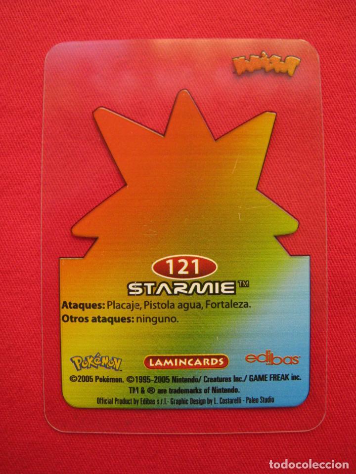 Trading Cards: POKEMON LAMINCARDS - STARMIE - Nº 121 - EDIBAS 2005. - Foto 3 - 160984502