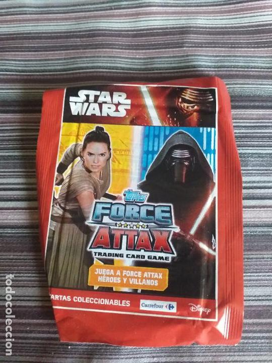 SOBRE CROMOS TRADING CARDS STAR WARS TOPPS FORCE ATTAX 2010 (Coleccionismo - Cromos y Álbumes - Trading Cards)