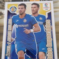 Trading Cards: CARD PANINI ADRENALYN XL 2018 2019 JORGE MOLINA Y ANGEL DUOS IMPARABLES GETAFE. Lote 162078374