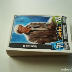 Trading Cards: STAR WARS TOPS FORCE ATTAX TRADING CARD GAME LOTE 51 CARDS SERIE 3 (TRASERA ROJA) TODAS DISTINTAS. Lote 162594782