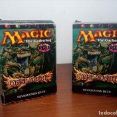 Trading Cards: DOS MAZOS 130 CARTAS MAGIC THE GATHERING (ONSLAUGHT) DEVASTATION DECK - EXPERT - EN INGLÉS (EN CAJA). Lote 167614024