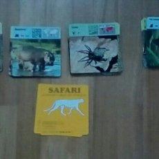 Trading Cards: LOTE 265 FICHAS COLECCION:SAFARI.CONOCER Y AMAR LOS ANIMALES. Lote 168362680