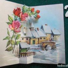 Trading Cards: FELICITACIÓN TROQUELADA ANTIGUA. Lote 168807124