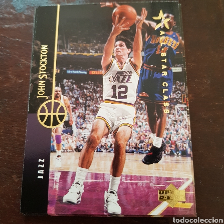 promo code e0194 5af40 NBA JOHN STOCKTON (Utah Jazz) All Star Class N. 87 Upper Deck 94-95