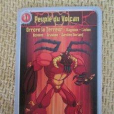 Trading Cards: GORMITI 1 PEUPLE DU VOLCAN. Lote 169429352
