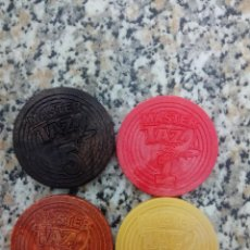 Trading Cards: LOTE PACK 4 MASTER TAZOS + 1 TAZO METAL CHUPA CHUPS LOONEY TUNES POG CAP CAPS PATATAS MATUTANO CROMO. Lote 169669856