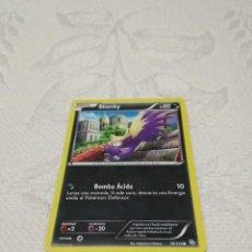 Trading Cards: CARTA POKEMON ORIGINAL - BLANCO Y NEGRO - EXPANSIÓN DRAGONES MAJESTUOSOS - STUNKY 76/124 - COMÚN. Lote 170869570