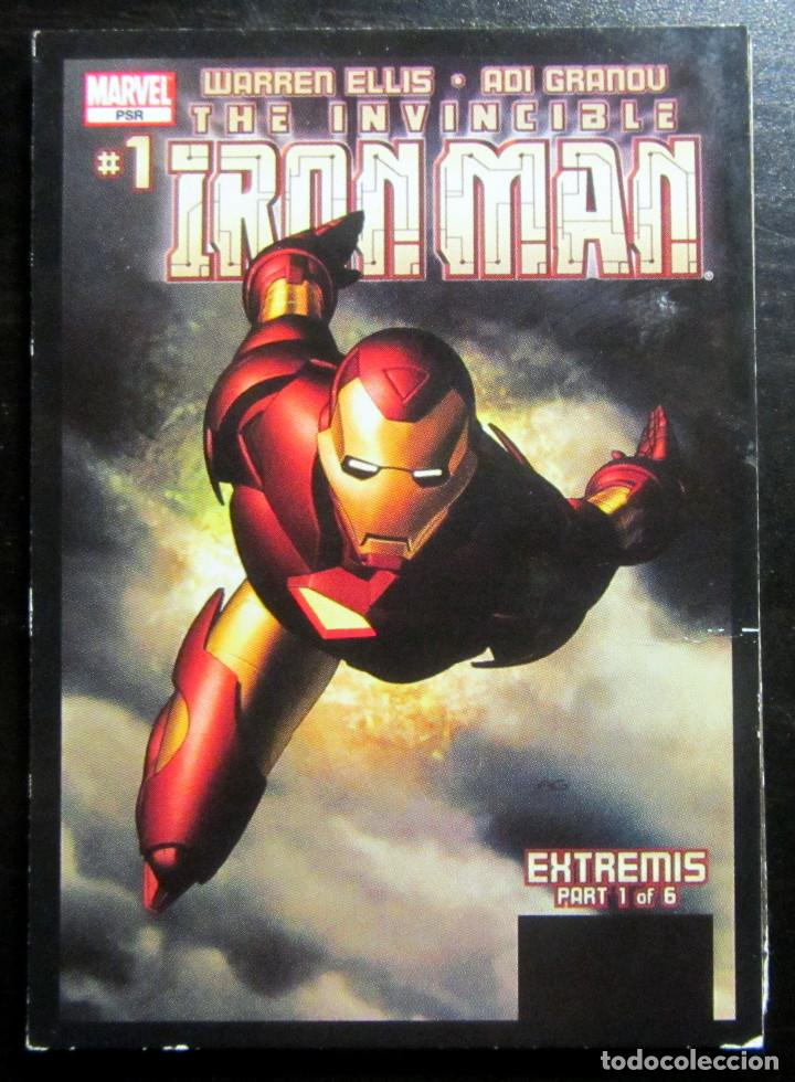 C 30 / 36 EXTREMIS IRON MAN MARVEL SUPERHEROES SUPER HEROES 2017 PORTADA COMIC TRADING CARD PANINI (Coleccionismo - Cromos y Álbumes - Trading Cards)