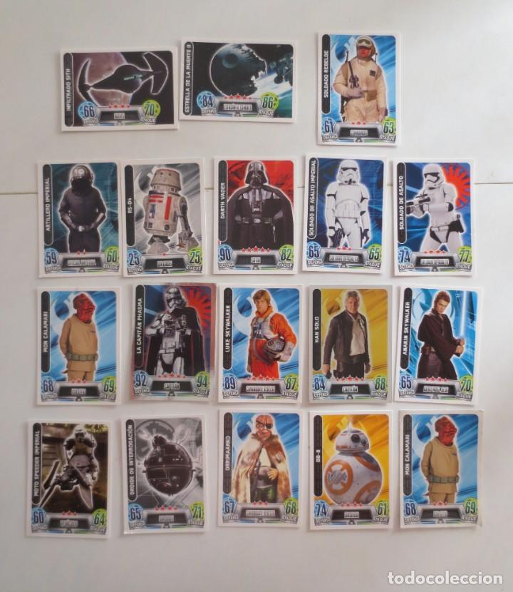 Trading Cards: LOTE DE 18 CROMOS FORCE ATTAX STAR WARS - TRADING CARDS - Foto 1 - 172108067