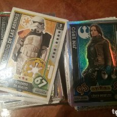 Trading Cards: STAR WARS TRADING CARDS FORCE ATTAX. MÁS DE 130 CARTAS. Lote 172369745