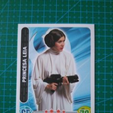Trading Cards: STAR WARS FORCE ATTAX - PRINCESA LEIA - TRADING CARD Nº 24 - TOPPS/CARREFOUR. Lote 172412080