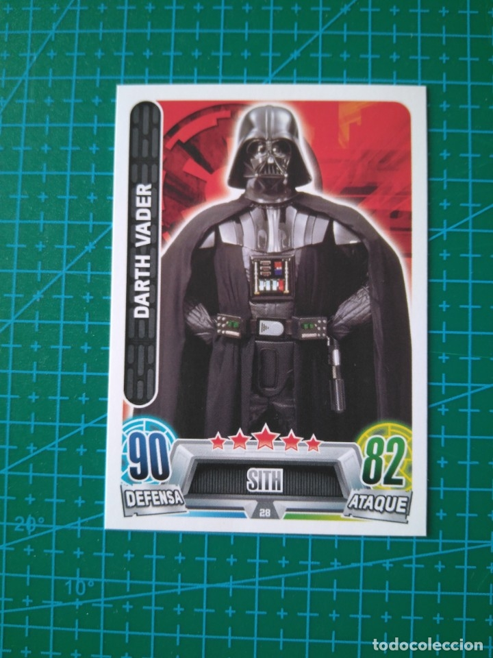 Wars Nº Vader Toppscarrefour Attax Force Star 28 Card Darth Trading USpVzM