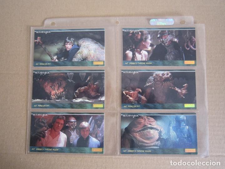 Trading Cards: STAR WARS - TRADING CARDS PANORÁMICAS - RETORNO DEL JEDI - 1995 - IMPORTACIÓN U.S.A. - Foto 5 - 176382514