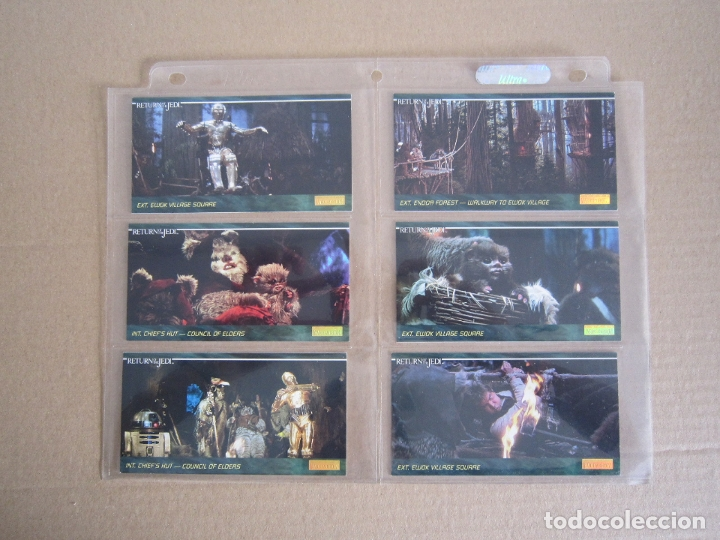 Trading Cards: STAR WARS - TRADING CARDS PANORÁMICAS - RETORNO DEL JEDI - 1995 - IMPORTACIÓN U.S.A. - Foto 13 - 176382514