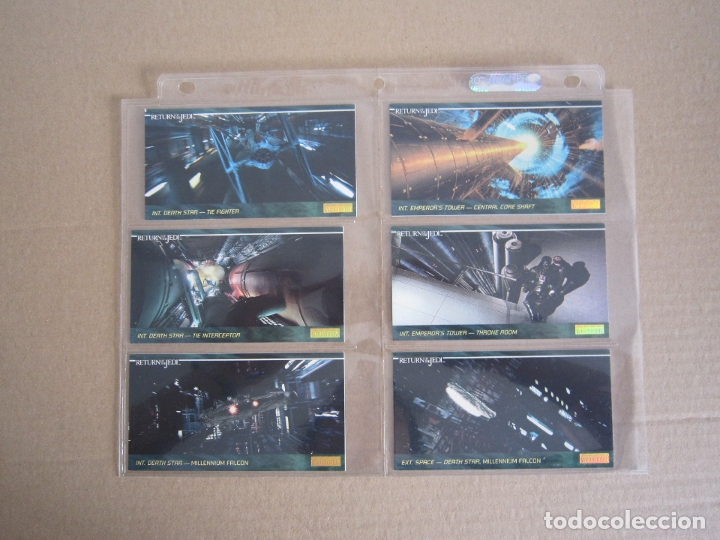 Trading Cards: STAR WARS - TRADING CARDS PANORÁMICAS - RETORNO DEL JEDI - 1995 - IMPORTACIÓN U.S.A. - Foto 23 - 176382514