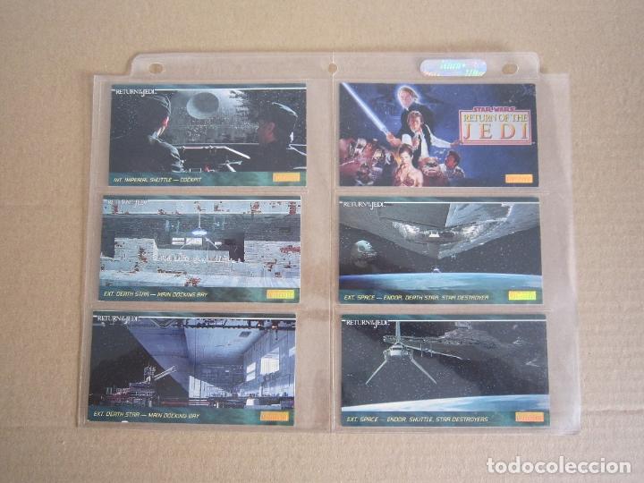 STAR WARS - TRADING CARDS PANORÁMICAS - RETORNO DEL JEDI - 1995 - IMPORTACIÓN U.S.A. (Coleccionismo - Cromos y Álbumes - Trading Cards)