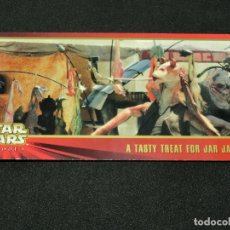 Trading Cards: STAR WARS EPISODE I WIDEVISION NÚMERO 028 28 A TASTY TREAT FOR JAR JAR - 9 - TOPPS CARTA CROMO. Lote 176767507