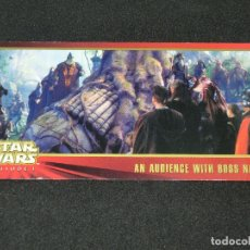 Trading Cards: STAR WARS EPISODE I WIDEVISION NÚMERO 062 62 AN AUDIENCE WITH BOSS NASS - TOPPS CARTA CROMO. Lote 176769304