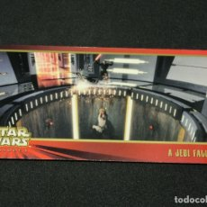Trading Cards: STAR WARS EPISODE I WIDEVISION NÚMERO 079 79 A JEDI FALLS - TOPPS CARTA CROMO. Lote 176771334