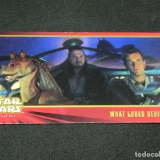 Trading Cards: STAR WARS EPISODE I WIDEVISION NÚMERO 013 13 WHAT LURKS BEHIND... - TOPPS CARTA CROMO. Lote 176774163