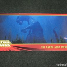 Trading Cards: STAR WARS EPISODE I WIDEVISION NÚMERO 016 16 THE SANDO AQUA MONSTER - TOPPS CARTA CROMO. Lote 176774414