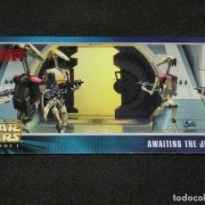 Trading Cards: STAR WARS EPISODE I WIDEVISION NÚMERO X-31 AWAITING THE JEDI DROID BATTLE OPPS CARTA X31 H31. Lote 176774937