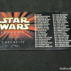 Trading Cards: STAR WARS EPISODE I WIDEVISION NÚMERO 80 CHECKLIST CARD TOPPS CARTA CROMO. Lote 176779009