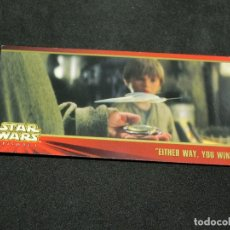 Trading Cards: STAR WARS EPISODE I WIDEVISION NÚMERO 036 36 EITHER WAY, YOU WIN - TOPPS CARTA CROMO. Lote 176788992
