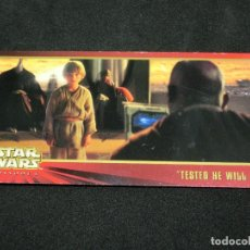 Trading Cards: STAR WARS EPISODE I WIDEVISION NÚMERO 057 57 TESTED HE WILL BE - TOPPS CARTA CROMO. Lote 176789004