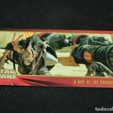 Trading Cards: STAR WARS EPISODE I WIDEVISION NÚMERO 044 44 A DAY AT THE PODRACE CARTA CROMO. Lote 176789507