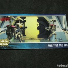 Trading Cards: STAR WARS EPISODE I WIDEVISION NÚMERO X-31 AWAITING THE JEDI DROID BATLLE OPPS CARTA X31 H31. Lote 176790017