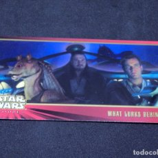 Trading Cards: STAR WARS EPISODE I WIDEVISION NÚMERO 013 13 WHAT LURKS BEHIND... - DEBT TOPPS CARTA CROMO. Lote 176791304