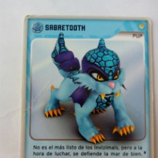 Trading Cards: INVIZIMALS PUP SABRETOOTH. Lote 176997105