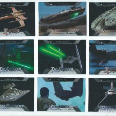Trading Cards: STAR WARS EVOLUTION : SUBSET COMPLETO SHIPS & VEHICLES (18 CARDS, TOPPS). Lote 177308037