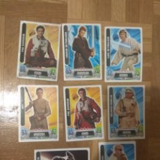 Trading Cards: SET LOTE DE 8 CROMOS STAR WARS FORCE ATTAX TRADING CARD GAME. Lote 177758060