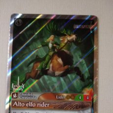 Trading Cards: FANTASY RIDERS ~ ALTO ELFO RIDER ~ ELFOS DEL CREPUSCULO , Nº 116 ( PLATA ) PANINI 2018 # CARD. Lote 177832544