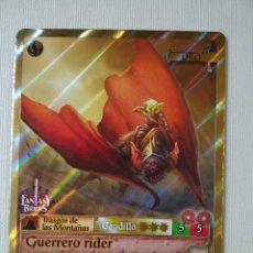Trading Cards: FANTASY RIDERS ~ GUERRERO RIDER ~ TRASGOS DE LAS MONTAÑAS , Nº 198 ( ORO ) PANINI 2018 # CARD. Lote 177833413