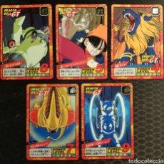 Trading Cards: DRAGON BALL GT SUPER BATTLE 752 755 778 786 784 BANDAI HK 1996. Lote 178950942
